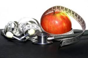 jabłko i stetoskop