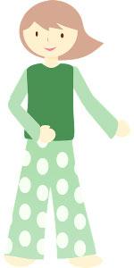 grafika dziewczyny w piżamie